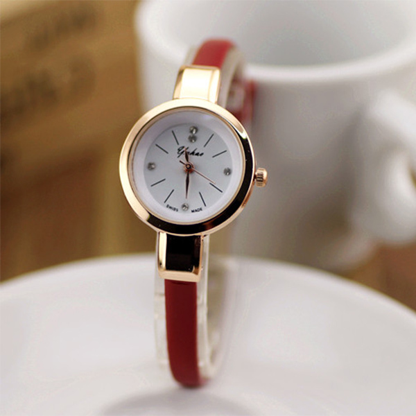 steel quartz is stainless slim wristwatch thin loading itm men image chic women bandelastic watches